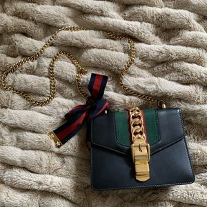 Mini Sylvie Leather Chain Bag